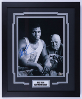 Mike Tyson Signed 18x22 Custom Framed Photo (Tyson Hologram) (See Description) at PristineAuction.com