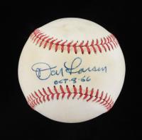 """Don Larsen Signed OAL Baseball Inscribed """"OCT-8-66"""" (JSA COA) (See Description) at PristineAuction.com"""