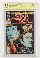 "Leonard Nimoy & William Shatner Signed 1980 ""Star Trek"" Vol. 2 Issue #1 Marvel Comic Book (CBCS Encapsulated - Graded 8.5) at PristineAuction.com"