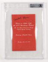 "Michelle Obama Signed ""2007 Strawberry Festival"" Program (BGS Encapsulated) (See Description) at PristineAuction.com"