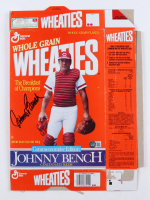 Johnny Bench Signed Wheaties Cereal Box (Beckett COA) at PristineAuction.com