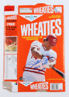 """Pete Rose Signed Wheaties Cereal Box Inscribed """"1963 ROY"""" & """"4256"""" (Beckett COA) at PristineAuction.com"""