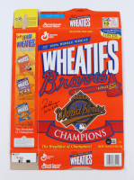 """Tom Glavine Signed Wheaties """"Braves 1995 World Series Champions"""" Cereal Box Inscribed """"Cy 91 & 98"""" (Beckett COA) at PristineAuction.com"""