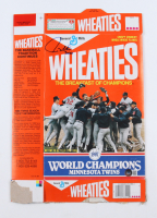"""Paul Molitor Signed Twins Wheaties Cereal Box Inscribed """"3000"""" (Beckett COA) at PristineAuction.com"""