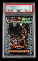 Clyde Drexler 1992-93 Stadium Club Beam Team #4 (PSA 9) at PristineAuction.com