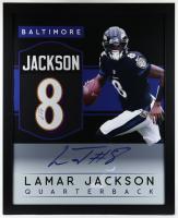 Lamar Jackson Signed 35x43 Custom Framed Jersey (JSA Hologram) at PristineAuction.com
