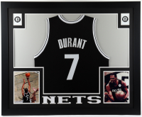 Kevin Durant 35x43 Custom Framed Jersey Display at PristineAuction.com