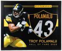 Troy Polamalu Signed 35x43 Custom Framed Jersey (Beckett Hologram) (See Description) at PristineAuction.com