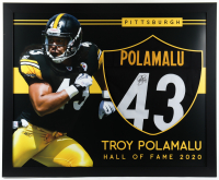Troy Polamalu Signed 35x43 Custom Framed Jersey (Beckett Hologram) at PristineAuction.com