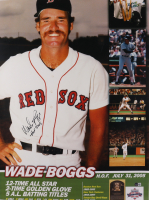 """Wade Boggs Signed Red Sox 24x32 Poster Inscribed """"HOF 2005"""" (Beckett COA) at PristineAuction.com"""