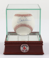 Bobby Doerr Signed OAL Baseball with Display Case & Red Sox Pin (PSA COA) (See Description) at PristineAuction.com