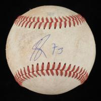 Adbert Alzolay Signed Game-Used OML Baseball (JSA COA) at PristineAuction.com