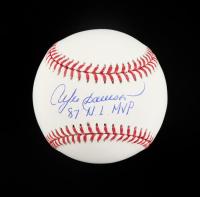 "Andre Dawson Signed OML Baseball Inscribed ""87 N.L. MVP"" (Schwartz Sports COA) at PristineAuction.com"