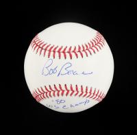 "Bob Boone Signed OML Baseball Inscribed ""'80 WS Champs"" (JSA COA) at PristineAuction.com"