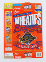 """John Smoltz Signed Wheaties """"Braves 1995 World Series Champions"""" Cereal Box (Beckett COA) at PristineAuction.com"""