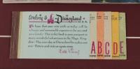 Vintage Disneyland 15x16 Custom Framed Original 1962 Souvenir Guide Book Display with Vintage Ticket Booklet & Pin (See Description) at PristineAuction.com