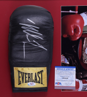 Mike Tyson Signed 15x28 Custom Framed Boxing Glove Display (PSA COA) (See Description) at PristineAuction.com