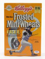Reggie Jackson Signed Yankees Kellog's Frosted Mini-Wheats Cereal Box (PSA COA) (See Description) at PristineAuction.com
