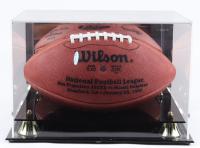 Joe Montana & Dan Marino Signed NFL Football with Display Case (UDA COA) at PristineAuction.com