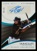 Josh Bell 2018 Immaculate Collection Dugout Collection Autographs Blue #10 #6/25 at PristineAuction.com