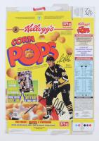 Mario Lemieux Signe Kellogg's Corn Pops Cereal Box (Beckett COA) at PristineAuction.com