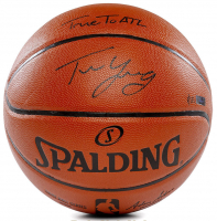 """Trae Young Signed LE NBA Game Ball Series Basketball Inscribed """"True To ATL"""" (Panini Hologram) at PristineAuction.com"""