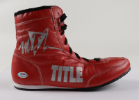 Mike Tyson Signed Title Boxing Shoe (PSA COA) (See Description) at PristineAuction.com