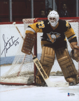 Gilles Meloche Signed Penguins 8x10 Photo (Beckett COA) at PristineAuction.com