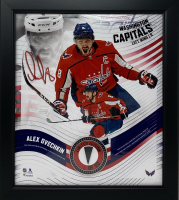 Alex Ovechkin LE Capitals 15x17 Custom Framed Photo Display with Game Used Puck Piece at PristineAuction.com