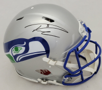 Russell Wilson Signed Seahawks Full-Size Authentic On-Field Throwback Speed Helmet (Fanatics Hologram) at PristineAuction.com