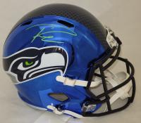 Russell Wilson Signed Seahawks Full-Size Chrome Alternate Speed Helmet (Fanatics Hologram) at PristineAuction.com