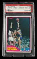 Kareem Abdul-Jabbar 1981-82 Topps #W106 Super Action (PSA 8) at PristineAuction.com