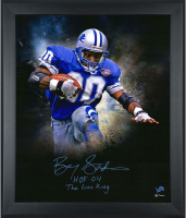 """Barry Sanders Signed LE Lions """"In Focus"""" 20x24 Custom Framed Photo #/20 (Fanatics Hologram) at PristineAuction.com"""