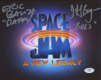 """Eric Bauza & Jeff Bergman Signed """"Space Jam: A New Legacy"""" 8x10 Photo Inscribed """"Daffy"""" & """"Bugs"""" (PSA Hologram) at PristineAuction.com"""