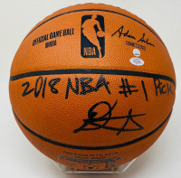 """Deandre Ayton Signed LE NBA Game Ball Series Basketball Inscribed """"2018 NBA #1 Pick"""" (Game Day Legends COA & Steiner COA) at PristineAuction.com"""