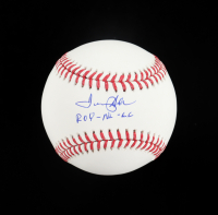 """Tommy Helms Signed OML Baseball Inscribed """"ROY-NL-66"""" (Schwatz COA) at PristineAuction.com"""