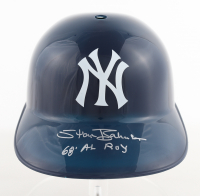 "Stan Bahnsen Signed Yankees Full Size Batting Helmet Inscribed ""68 AL ROY"" (Schwartz COA) at PristineAuction.com"