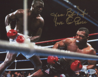 """James """"Buster"""" Douglas Signed 8x10 Photo Inscribed """"Love, Peace"""" (Beckett COA) at PristineAuction.com"""
