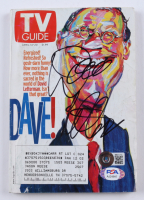 """David Letterman Signed """"2001 TV Guide"""" Softcover Book (Beckett COA & PSA Hologram) at PristineAuction.com"""