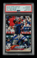 Ronald Acuna Jr. Signed 2018 Topps Update #US250 RC (PSA Encapsulated) at PristineAuction.com