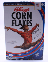 Simone Biles Signed Kellogg's Corn Flakes Team USA Special Edition Cereal Box (PSA COA) (See Description) at PristineAuction.com