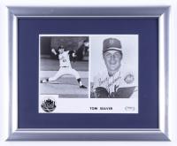 "Tom Seaver Signed Mets 13x16 Custom Framed Print Display Inscribed ""Best Wishes"" (PSA COA) (See Description at PristineAuction.com"