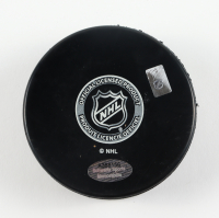 "Grant Fuhr Signed Sabres Logo Hockey Puck Inscribed ""HOF 03"" (Schwartz Sports COA) at PristineAuction.com"