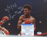 """Leon Spinks Signed 8x10 Photo Inscribed """"6/9/05"""" (PSA COA) at PristineAuction.com"""