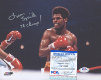 """Leon Spinks Signed 8x10 Photo Inscribed """"78 Champ!"""" (PSA COA) at PristineAuction.com"""