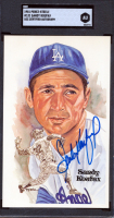Sandy Koufax Signed LE 1980-02 Perez-Steele Hall of Fame Postcards #131 (SGC Encapsulated) at PristineAuction.com