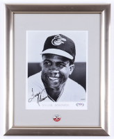 Frank Robinson Signed Orioles 13x16 Custom Framed Photo Display With Vintage Orioles Pin (PSA COA) at PristineAuction.com