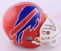 Jim Kelly & Bruce Smith Signed Bills Throwback Full-Size Helmet (PSA COA) (See Description) at PristineAuction.com