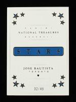 Jose Bautista 2016 Panini National Treasures Stars Booklet Materials #SBMJB #32/49 at PristineAuction.com