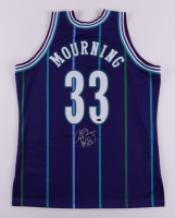 Alonzo Mourning Signed Charlotte Hornets Jersey (Schwartz COA) at PristineAuction.com